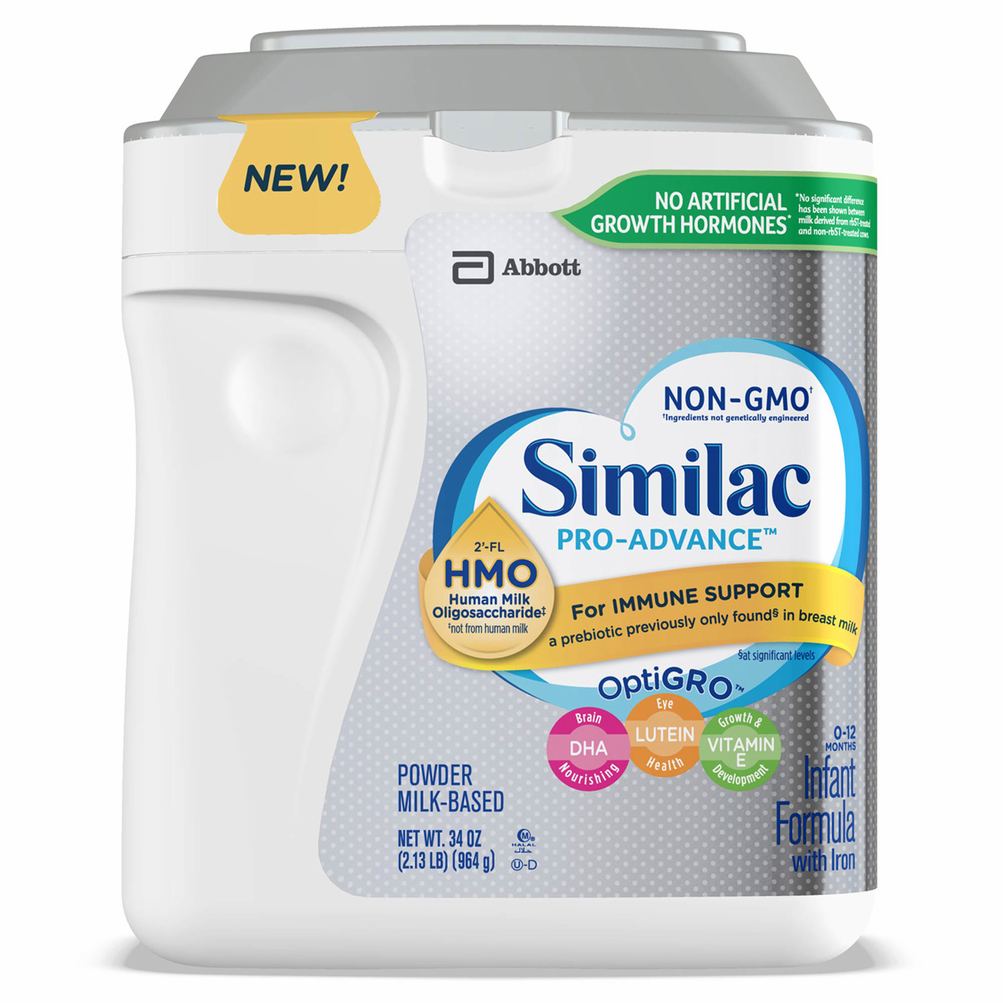 Similac Pro Advance Non Gmo Infant Formula Powder 34 Oz