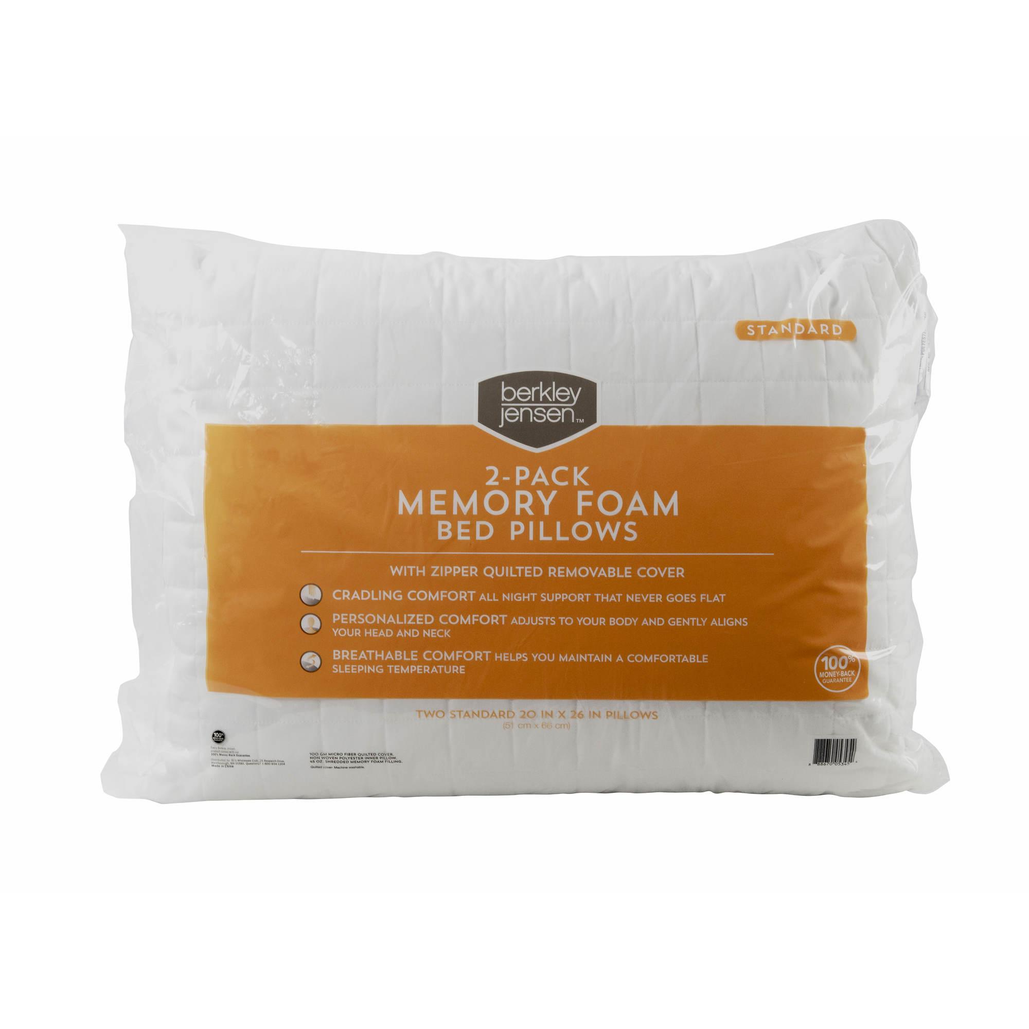 Berkley Jensen Standard-Size Memory Foam Pillow, 2 pk. - BJs ...