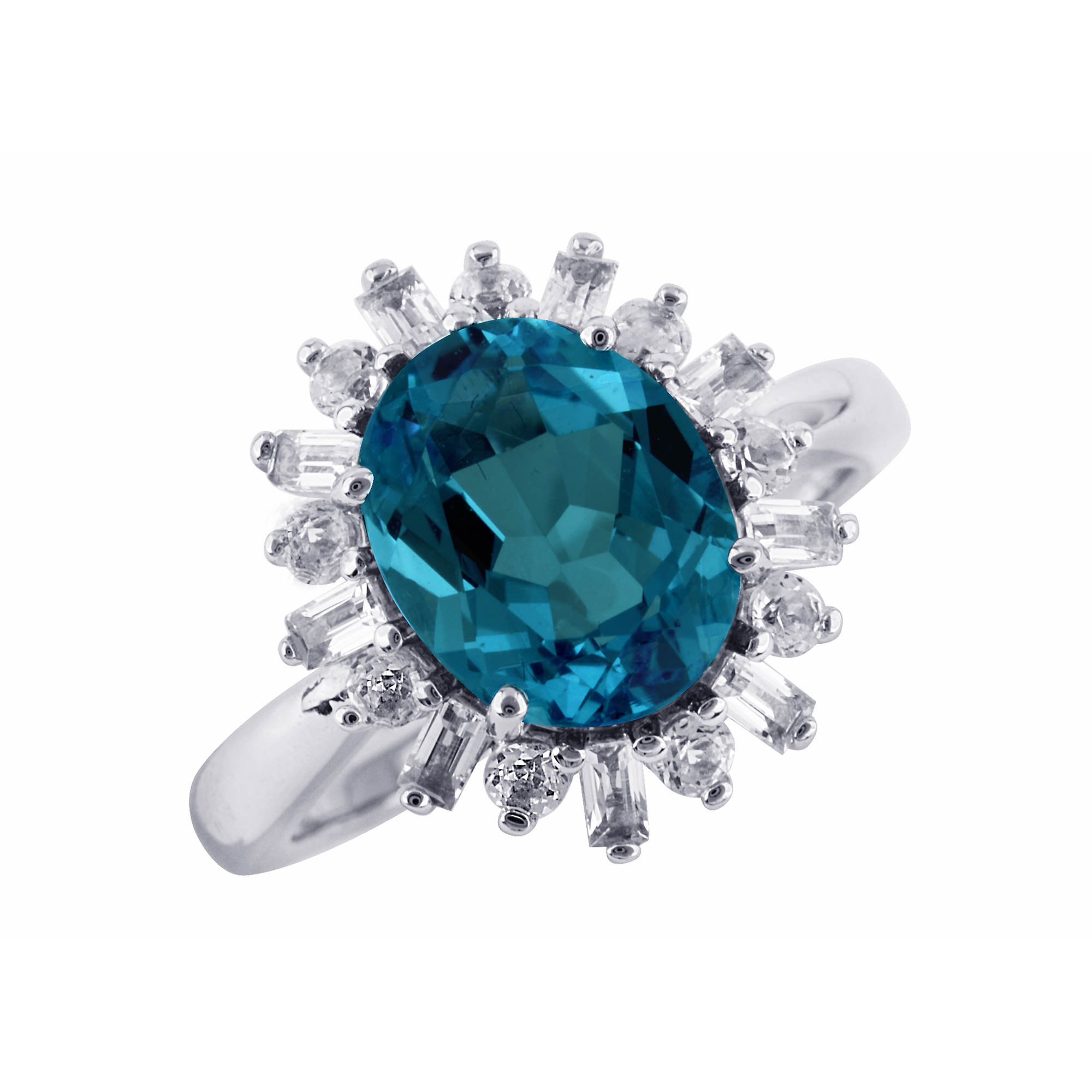 london blue topaz and white topaz ring in sterling silver bj 39 s wholesale club. Black Bedroom Furniture Sets. Home Design Ideas